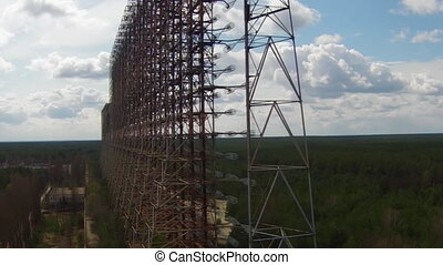 Duga - Soviet over-the-horizon radar system or The Russian Woodpecker. This is the newest and maybe even the strangest, a superlative not easily earned among Chernobyl%u2019s innumerable wonders.