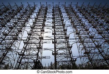 Chernobyl: Duga old soviet radar system - Duga-3 was a...