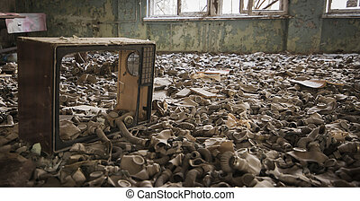 Chernobyl - gas masks on the floor - Gas masks on the floor...