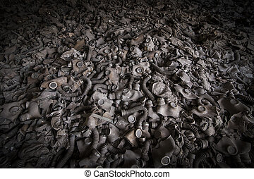 Chernobyl - gas masks on the floor - Gas masks on the floor...