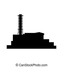 Chernobyl icon silhouette building. Vector esp10 illustration