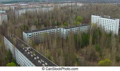 chernobyl, pripyat., ville, abandonnés