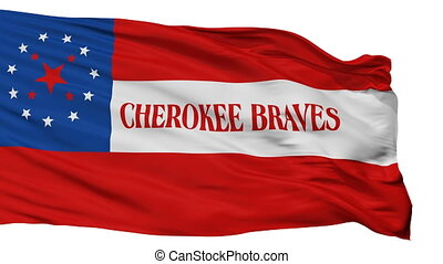 Cherokee Braves Indian Flag Isolated Seamless Loop