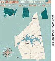 Cherokee County in Alabama USA