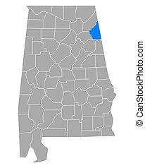 cherokee, mapa, alabama