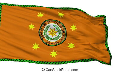 Cherokee Nation Indian Flag Isolated Seamless Loop - The...