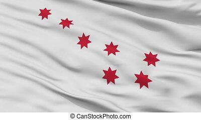 Cherokee Peace Indian Flag Closeup Seamless Loop