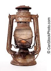 cherosene, vecchio, lanterna