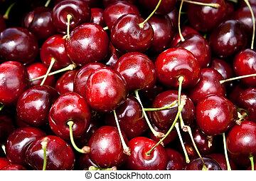 A bunch of cherries