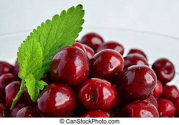 Cherries and Lemon balm leaf 5