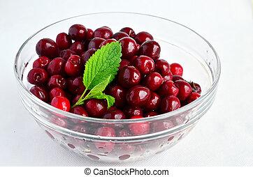 Cherries and Lemon balm leaf 7