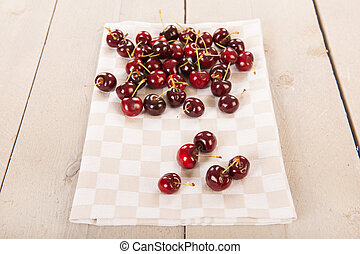Cherries at the table