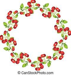 Cherries Circle Shape