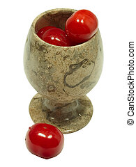 Cherries in goblet 1