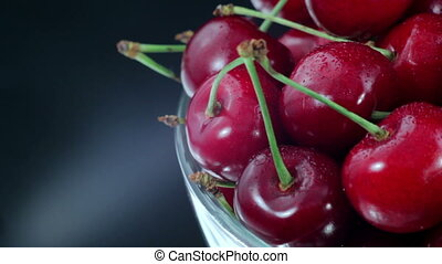 Cherries, Red Cherry on The Plate