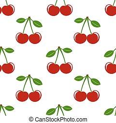 Cherries seamless pattern