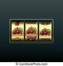 Cherries - winning in slot machine - Vector illustration of...