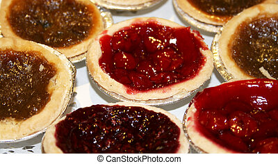 Cherry and butter tarts