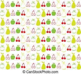 Cherry apple and pear wallpaper
