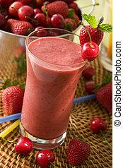 Cherry berry smoothie
