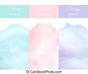 Cherry Bilberry and Blueberry Cotton Candy Vector - Cherry...