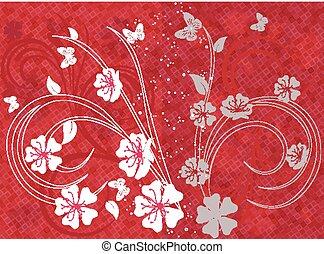 Cherry blossom background.