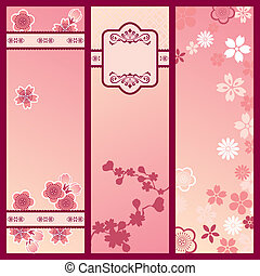 Cherry blossom banners