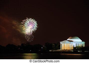 Cherry Blossom Firework Celebration, Washington DC