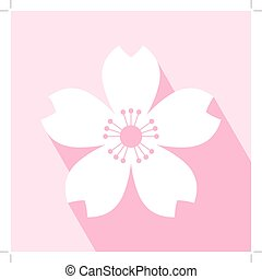 Cherry Blossom Icon - Cherry blossom icon. Sakura icon. All...