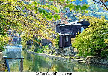 Cherry blossom in Arashiyama, Kyoto, Japan
