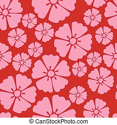 Cherry blossom sakura seamless pattern background