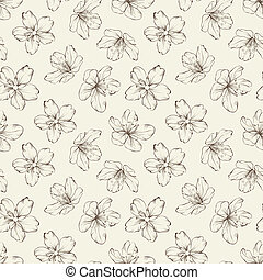 Cherry blossom seamless pattern.