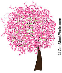cherry blossom - vector cherry tree in blossom