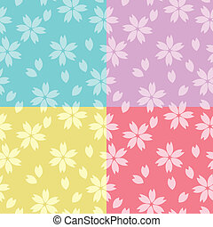 cherry blossom - seamless patterns of cherry blossoms