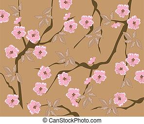 vector seamless cherry blossom background