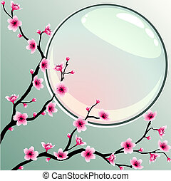 Cherry blossoms - A background with cherry blossoms. ...