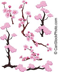 Cherry Blossoms Borders Dividers