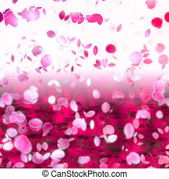 Cherry blossoms - Cherry blossom pink floral abstract...