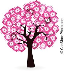 Cherry blossoms tree logo