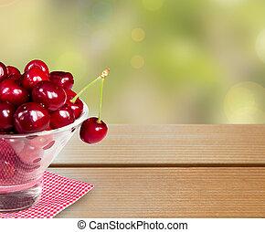 Cherry bowl background