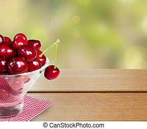 Cherry bowl background