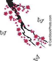 cherry butterflies