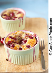 Cherry clafoutis - Delicious and freshly baked cherry...