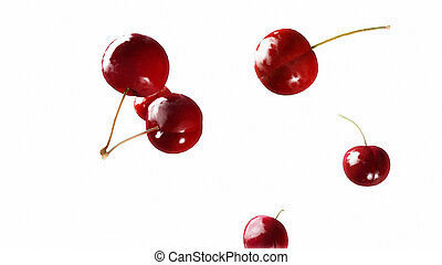 cherry falling down white 2