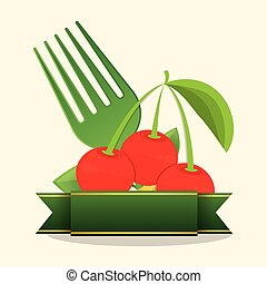 cherry food healthy stamp
