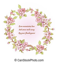 Cherry frame with poem