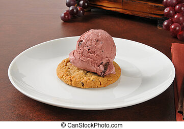 Cherry ice cream sandwich