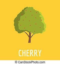Cherry icon, flat style