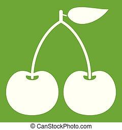 Cherry icon green