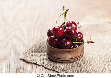 cherry in the bowl of
